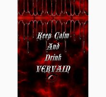 Keep Calm & Drink Vervain Black & Red VD Logo Classic T-Shirt