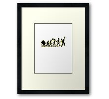 Rock Evolution Framed Print
