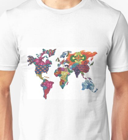 Map in Color Unisex T-Shirt