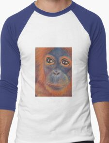 Orangutan  Men's Baseball ¾ T-Shirt