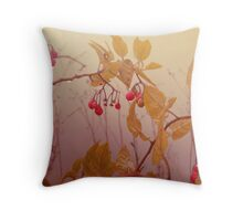 Nightshade Berries Throw Pillow