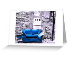 Blue Living Greeting Card