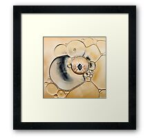 oil and water abstract Framed Print