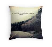 WINDING ROADS OF HWY 101  Throw Pillow