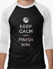 Keep Calm and Finish Him Men's Baseball ¾ T-Shirt