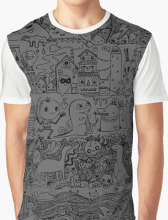 Many Layers of Doodle Graphic T-Shirt