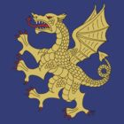 Dragon Rampant (Gold) by RHFay