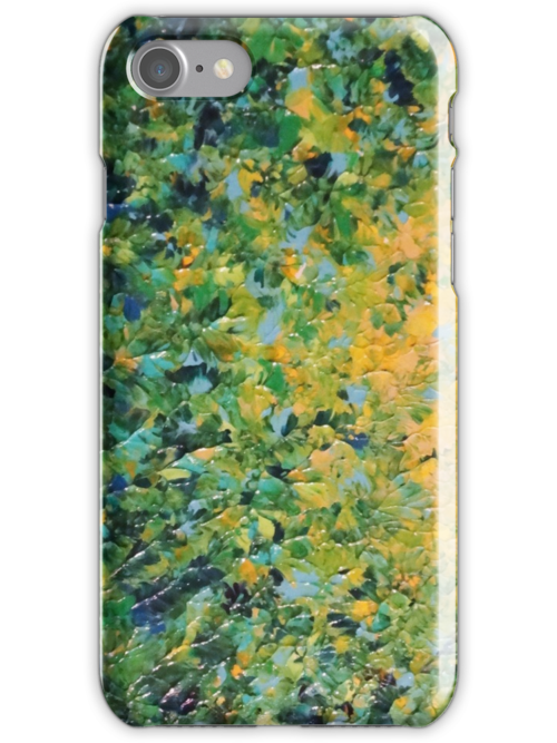 IRISH SUNRISE - Beautiful Vancouver Bold Lime Kelly Forest Green Sunrise Sunset Abstract Nature Painting by EbiEmporium