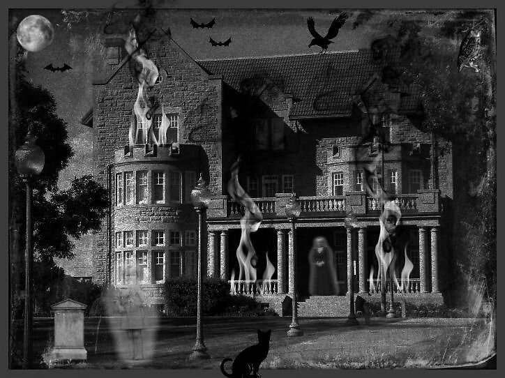 The Haunting House ( please view large) by PatChristensen