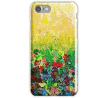 NATURE'S LIVING ROOM - Gorgeous Bright Bold Nature Wildflower Field Landscape Abstract Art  iPhone Case/Skin