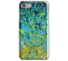 BEAUTY BENEATH THE SURFACE - Stunning Lake Ocean River Water Nature Green Blue Teal Yellow Aqua Abstract iPhone Case/Skin