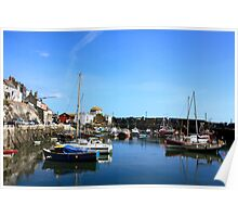 Mevagissy Harbour Cornwall England Poster
