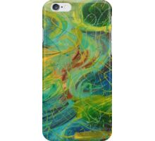 NAUTICAL GALAXY - Beautiful Aquatic Blue Green Ocean Universe Abstract Painting Gift Decor iPhone Case/Skin