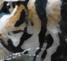 Tiger Profile (Graphic) Sticker