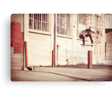 Austyn Gillette - Backside Flip - Los Angeles - Photo Aaron Smith Metal Print