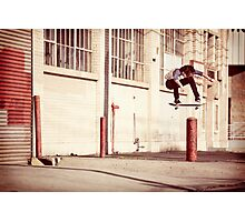 Austyn Gillette - Backside Flip - Los Angeles - Photo Aaron Smith Photographic Print