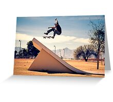 Ray Barbee - 360 Flip - Arizona - Photo Aaron Smith Greeting Card
