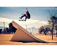 Ray Barbee - 360 Flip - Arizona - Photo Aaron Smith Photographic Print