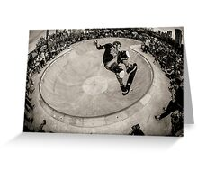 Christian Hosoi - Air - New York - Photo Aaron Smith Greeting Card