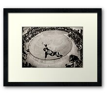 Christian Hosoi - Layback Smith Grind - New York - Photo Aaron Smith Framed Print