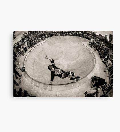 Christian Hosoi - Layback Smith Grind - New York - Photo Aaron Smith Canvas Print