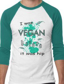Vegan before it was hip Men's Baseball ¾ T-Shirt