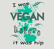 Vegan before it was hip Womens Fitted T-Shirt