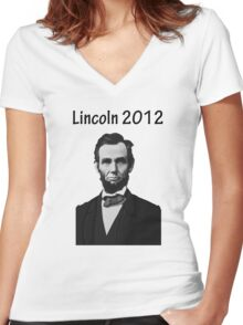 Lincoln 2012 Women's Fitted V-Neck T-Shirt