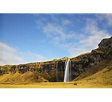 Seljalandsfoss Waterfall Iceland Photographic Print