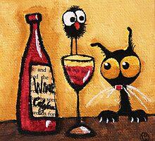 A bottle of wine by StressieCat