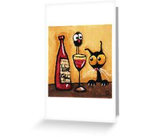 A bottle of wine Greeting Card