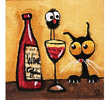 A bottle of wine Photographic Print