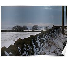 Ovenden moors above Halifax Yorkshire Poster