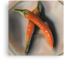 Orange Fogo Peppers Canvas Print