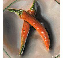 Orange Fogo Peppers Photographic Print