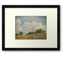 I Exhale and Tell Myself to Smile Framed Print