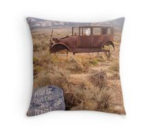 Horse with No Mane Throw Pillow