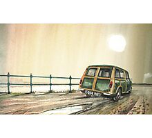 Park the car at the side of the Road Photographic Print