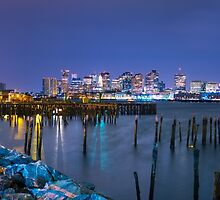 Boston Skyline and Harbor by D1224M