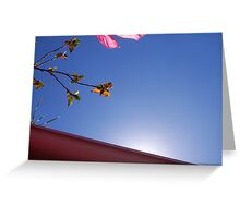 Sun Over The Gutter - 23 10 12 Greeting Card