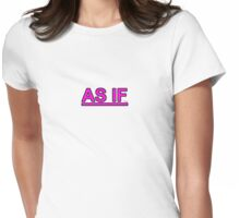 As If silly girl talk preppy Womens Fitted T-Shirt