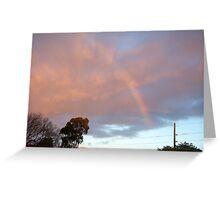Rainbow At Dawn 12 - 23 10 12 Greeting Card