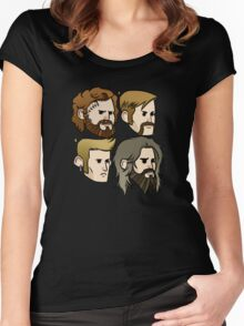 MASTODON cartoon quartet Women's Fitted Scoop T-Shirt