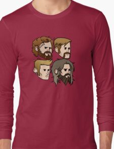 MASTODON cartoon quartet Long Sleeve T-Shirt