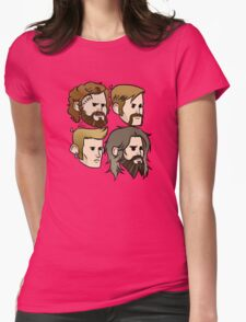 MASTODON cartoon quartet Womens Fitted T-Shirt