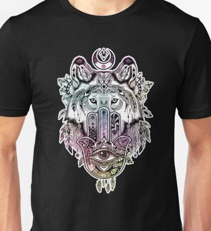 Hamsa Wolf Protection Unisex T-Shirt