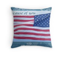 Soldier Veteran Thank You Throw Pillow