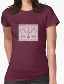 Christmas Cross Stitch Sampler T-Shirt