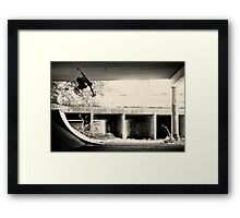 Jason Dill backside ollie by Sam Muller Framed Print