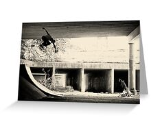 Jason Dill backside ollie by Sam Muller Greeting Card